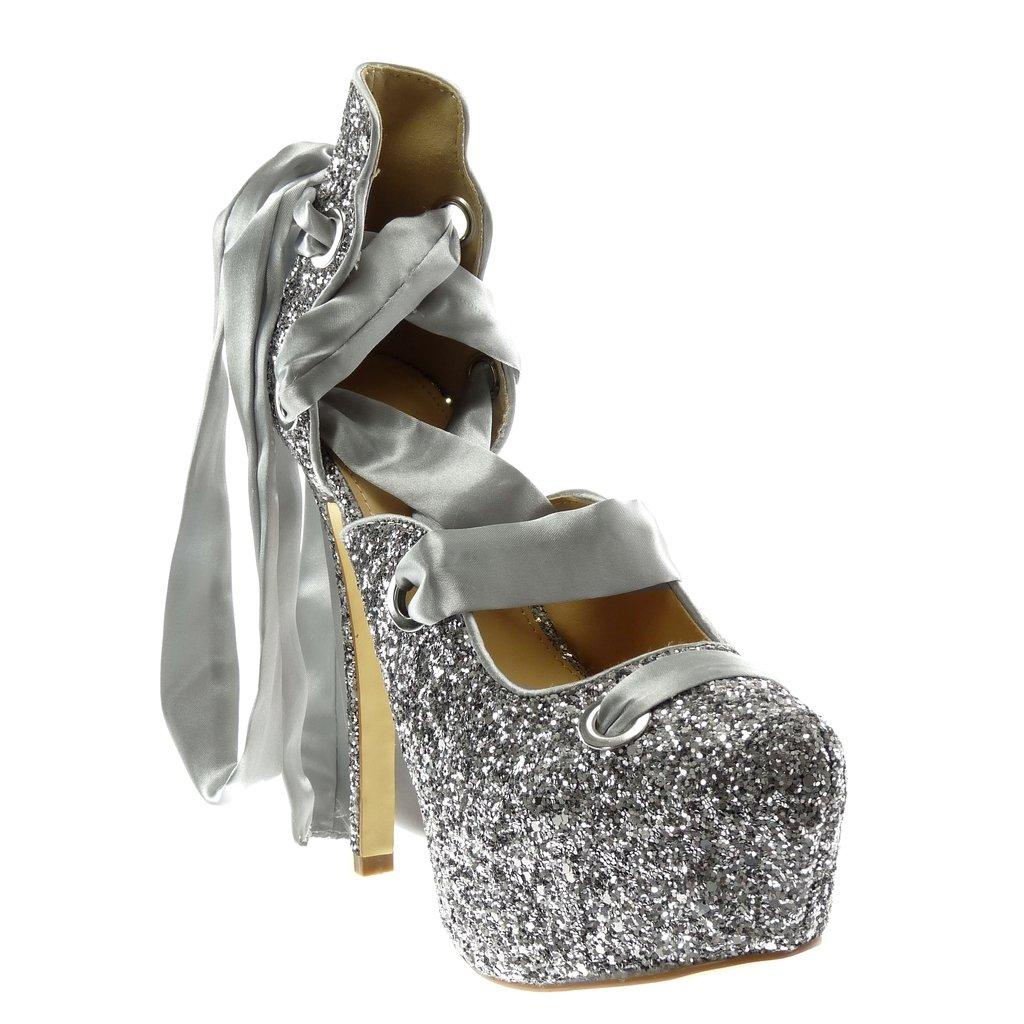 Stiletto Angkorly Womens Fashion Shoes Pump Court Shoes Decollete Glitter Shiny Stiletto 11 cm