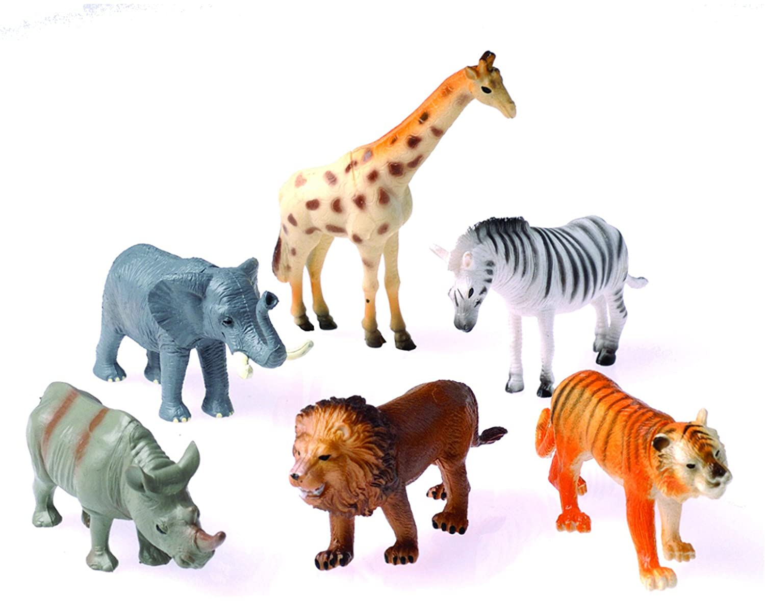 Amazon Com U S Toy 6 Plastic Toy Safari Animals Toy Toys Games