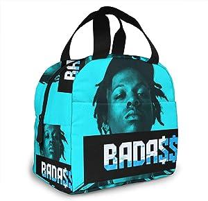 SusanMRobey Jo-ey Ba-DASS Portable Insulation Bags for Hot Food Reusable Hip Hop Zipper-Sealed Leak-Proof Portable Thermal Insulation Bag Durable Men and Women Camping Warming Bag