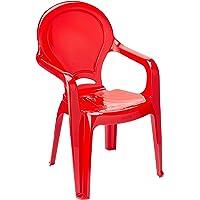 Cadeira Plástica Monobloco com Braços Infantil Tiquetaque Tramontina Vermelha
