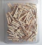 Lot de 100 mini pinces à linge en bois vêtements par Kurtzy TM