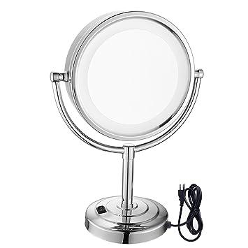 Gurun 85 Pouces Miroir Grossissant X10 Lumineux Led Avec Support