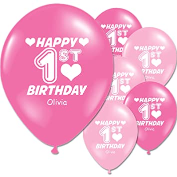 Birthday 25 Childrens Add A Name Personalised Party Balloon Pink