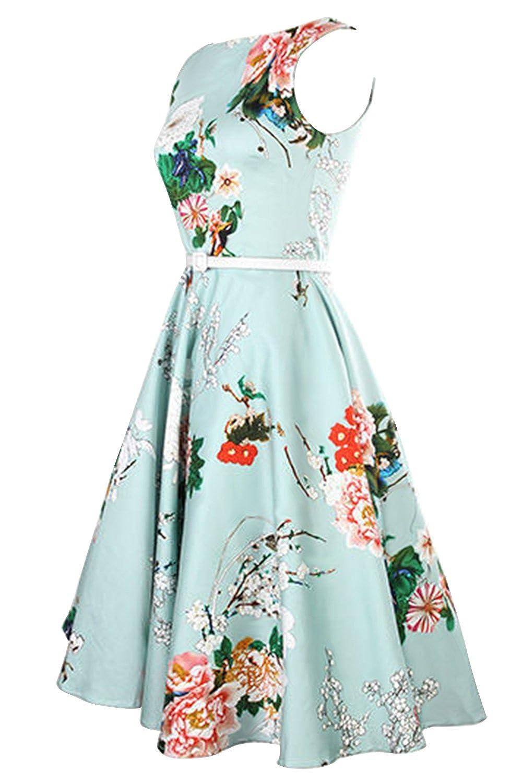 Babyonline® Damen Vintage Kleider, geblühmt: Amazon.de: Bekleidung