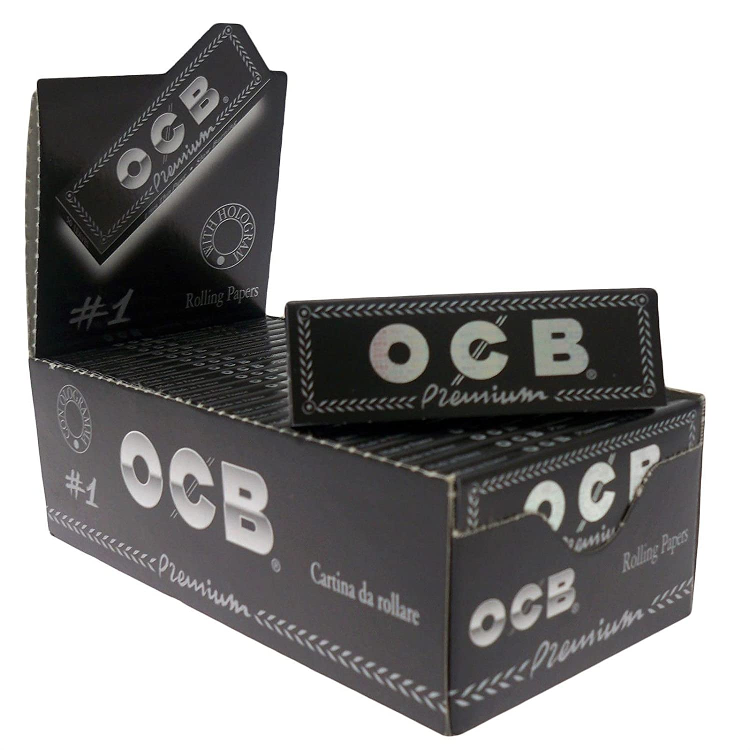 1 box - OCB Single Premium No1 rolling paper regular size 70mm - 2500 papers 012010.02