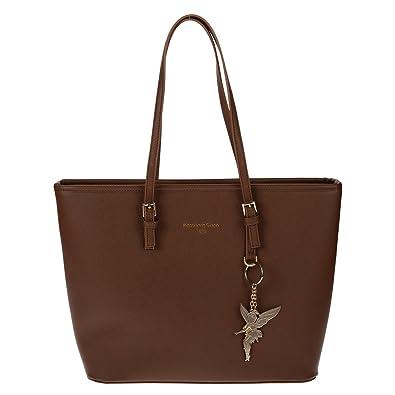 55462a098e374 Kossberg Damen Handtasche Schultertasche Shopper Taschen Umhängetasche  schwarz braun black brown 39x29x14cm Braun