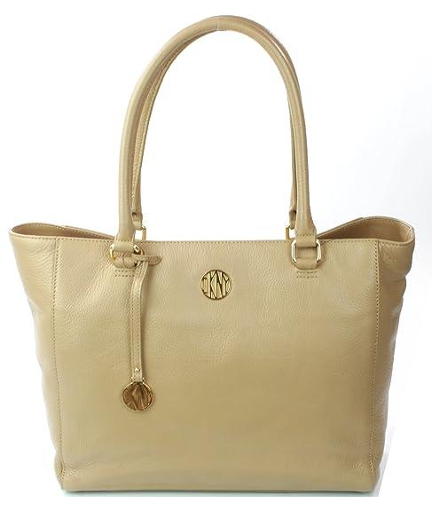DKNY - Bolso al hombro de Piel para mujer Beige beige  Amazon.es  Zapatos y  complementos fcc95e672fb1