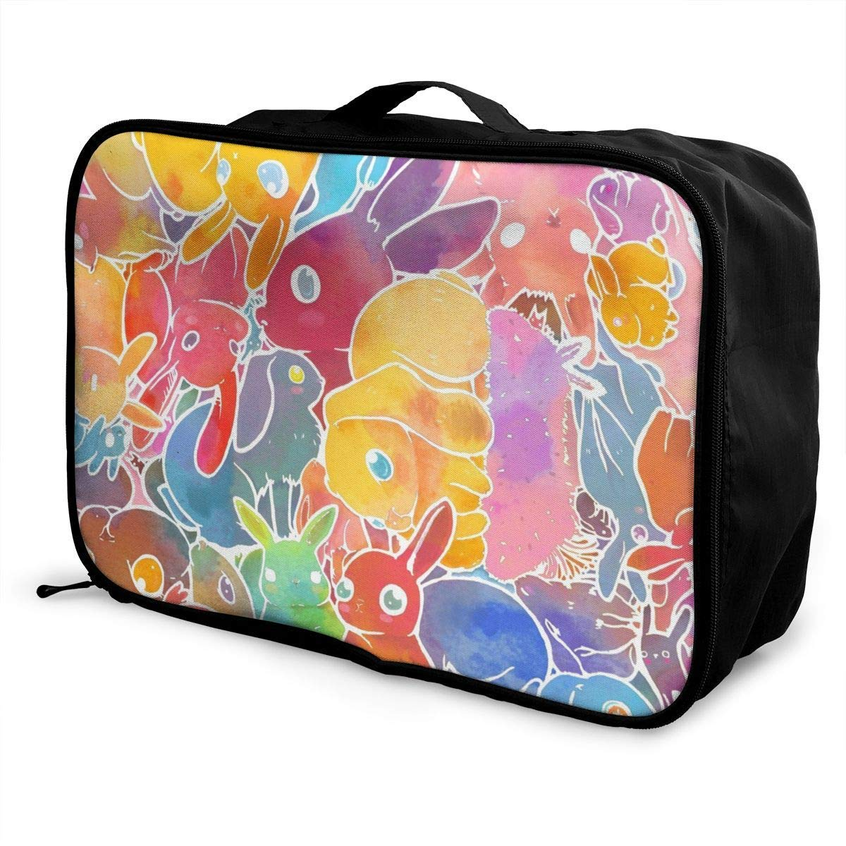 Travel Lightweight Waterproof Foldable Storage Carry Luggage Duffle Tote Bag Colorful Tie Dye Watercolor Art JTRVW Luggage Bags for Travel