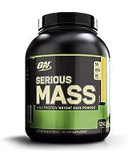 OPTIMUM NUTRITION Serious Mass Weight Gainer Protein Powder, Banana, 2.72 kg