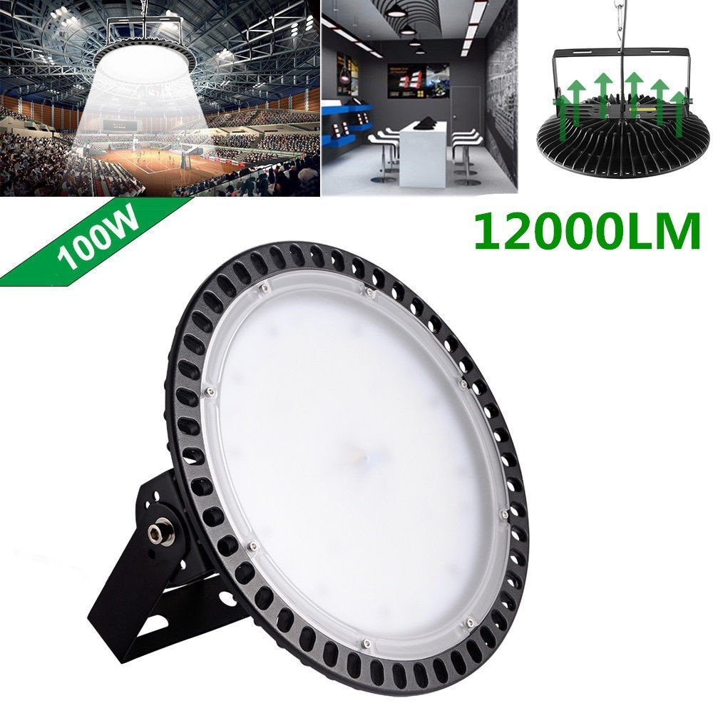 100w,200w,300w UFO LED High Bay Lighting, Getseason,6000-6500K,IP54,Waterproof Dust Proof, Warehouse LED Lights- LED High Bay Lighting - High Bay LED Lights (100)
