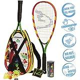 Speedminton S600 Set - Original Speed Badminton / Crossminton Starter Set including 2 rackets, 3 Speeder, Speedlights…