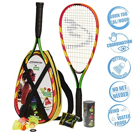 7ce934586f Amazon.com : Speedminton S600 Set - Original Speed Badminton / Crossminton  Starter Set including 2 rackets, 3 Speeder, Speedlights, Bag : Sports &  Outdoors