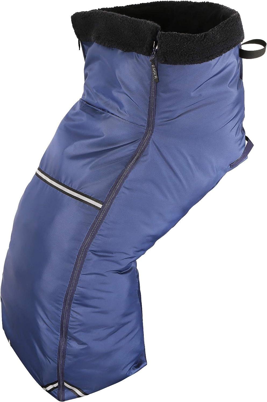 Kaiser Naturfellprodukte 999005 - Saco para silla de ruedas (vellón, tamaño universal), color azul