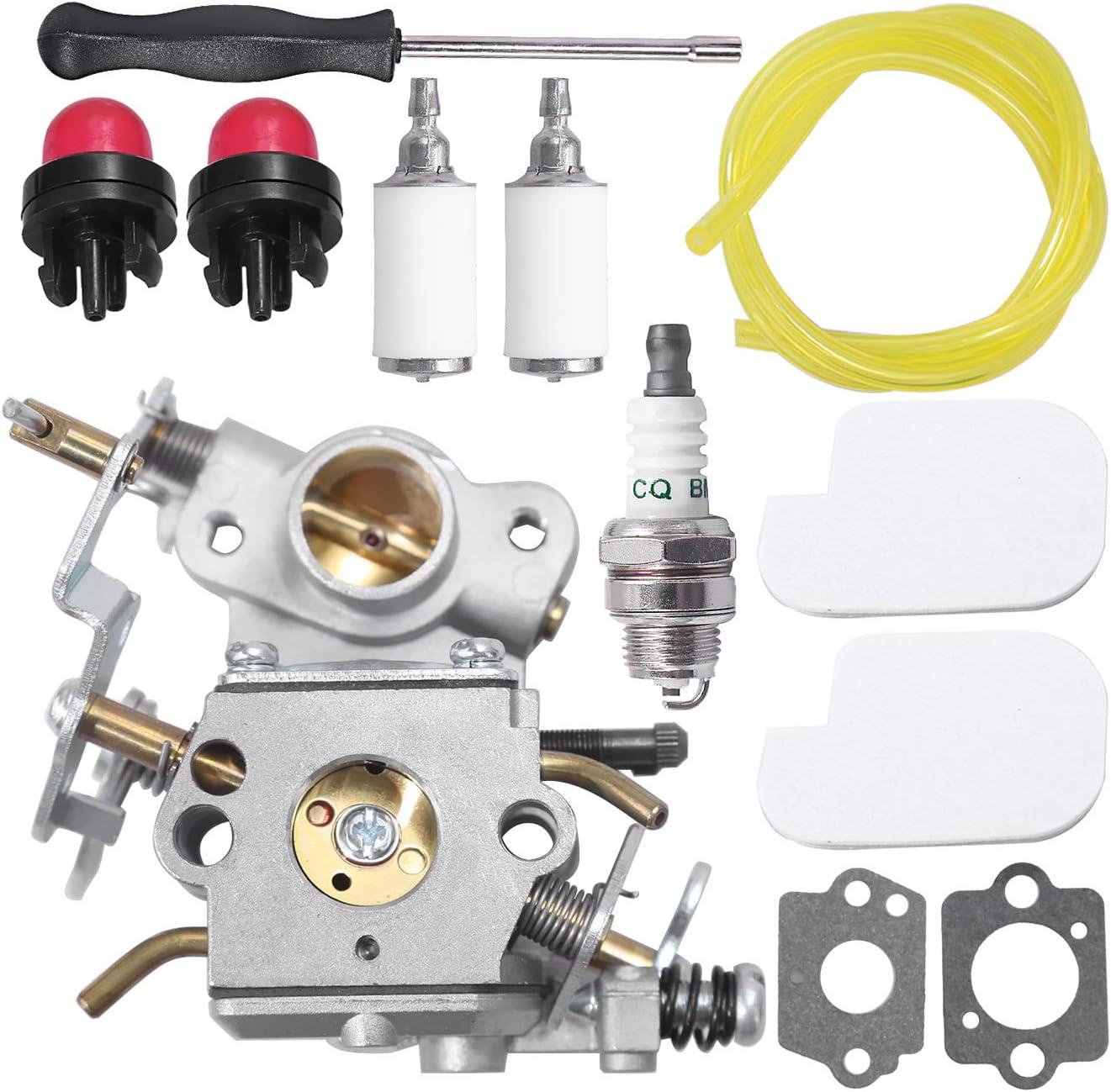 C1M-W26C Carburetor 545070601 for Poulan Pro PP3416 PP3516 PP3816 PP4018 PP4218 PPB3416 SM4218AV Gas Chainsaw with Air Filter Spark Plug Adjustment Tool