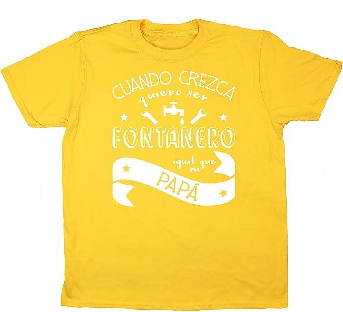 HippoWarehouse Cuando Crezca Quiero Ser Fontanero Igual Que Mi Papá camiseta manga corta niños niñas unisex: Amazon.es: Ropa y accesorios