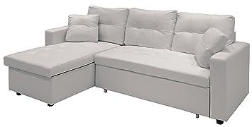 WEBMARKETPOINT - Sofá cama de piel sintética, con chaise ...