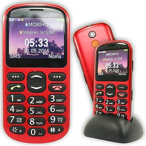 Mobiho-Essentiel Classic Look con GPS, seniors – teclas grandes – botón SOS –