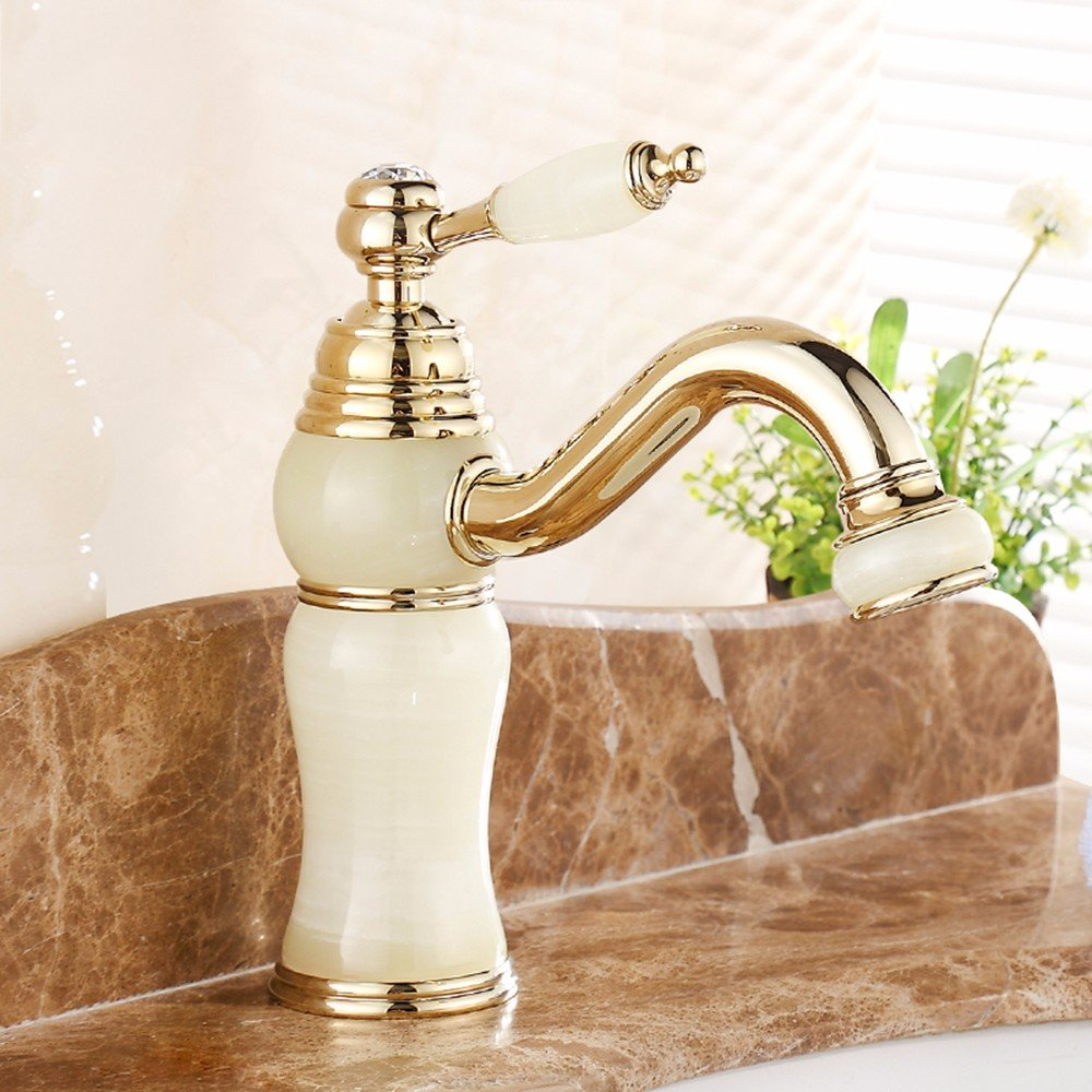 1 LHbox Basin Mixer Tap Bathroom Sink Faucet European style, jade, basin, hot and cold, Single Hole Sink mixer 3