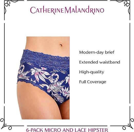 Catherine Malandrino Womens 6 Pack Hipster Panties Underwear