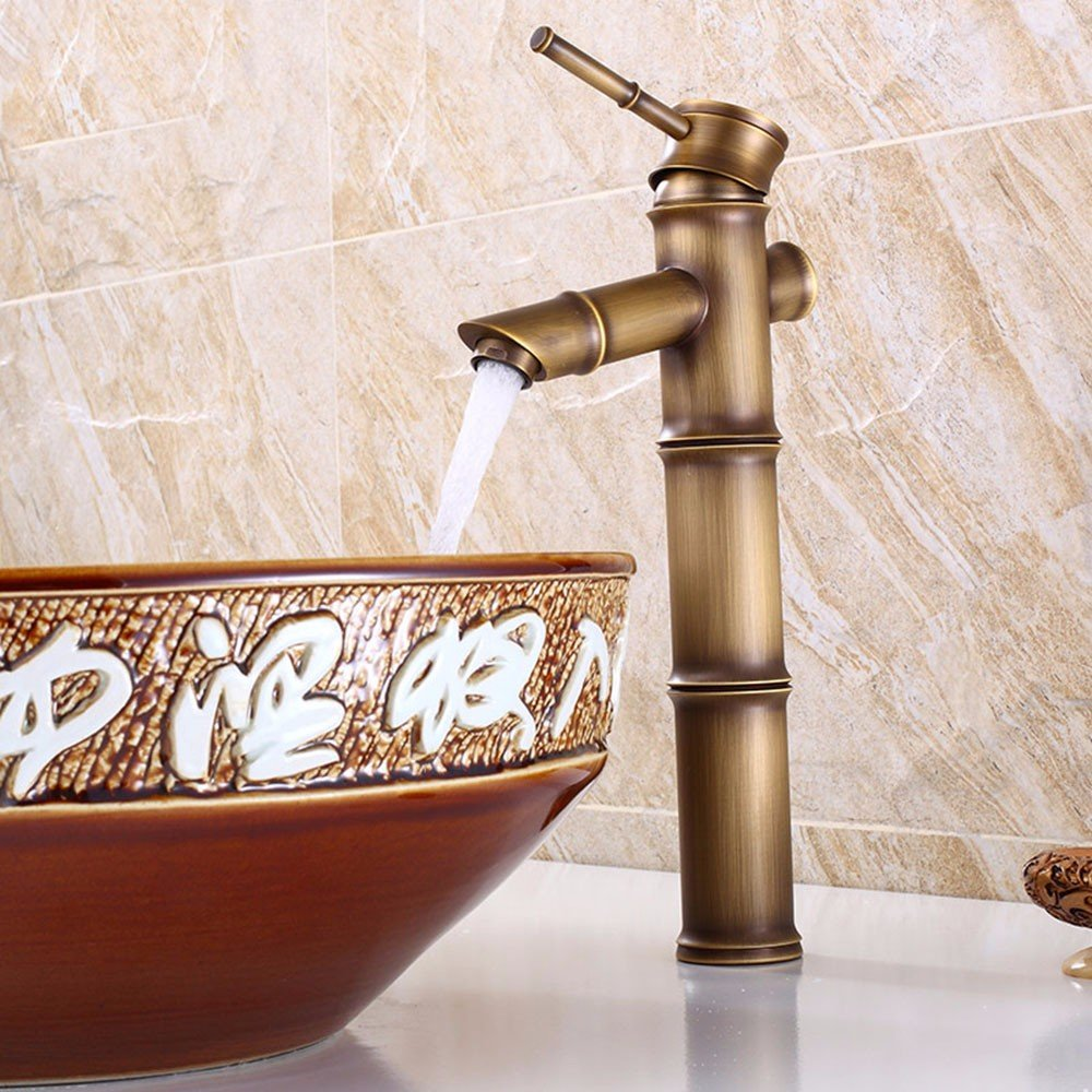 SADASD Modern Bathroom sink faucet Copper Luxury gold Plated Single Hole Single Handle Hot and Cold Water Ceramic Valve faucet With G1 2 Stainless Steel Hose