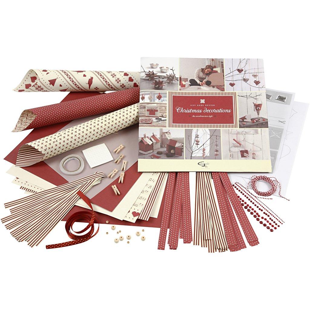 "Vivi Gade - Set per bricolage in carta ""Christmas Decorations"" 97265"