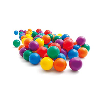 "Intex 2-1/2"" Fun Ballz - 100 Multi-Colored Plastic Balls, for Ages 2+: Toys & Games"