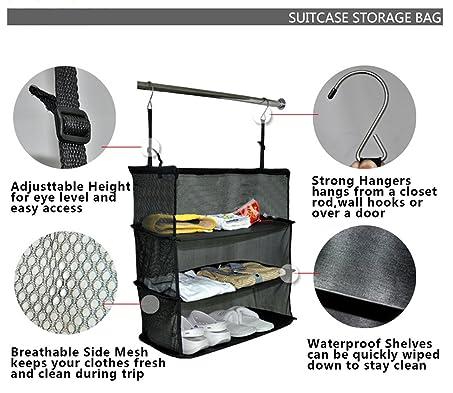 Amazon.com | Onway Travel Luggage Organize Storage Suitcase, Shelves Haning  Closet Organizer | Packing Organizers