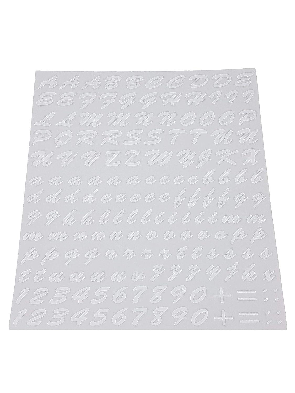 wei/ß Quattroerre 1232/Kit Buchstaben selbstklebend