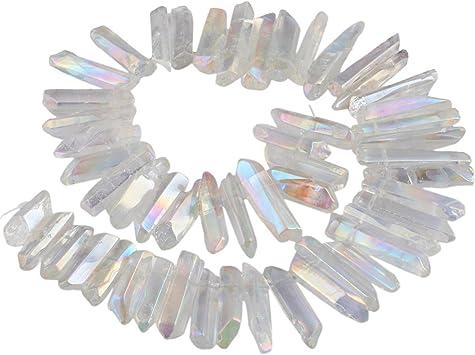 Angel Aura Spirit Quartz Point Pendant16-18 Silver Plated satellite ChainUnique Bohemian Accessory