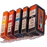 Start - 5 Chip Reinigungspatronen kompatibel zu Canon PGI-525 / CLI-526 zur Druckkopfreinigung