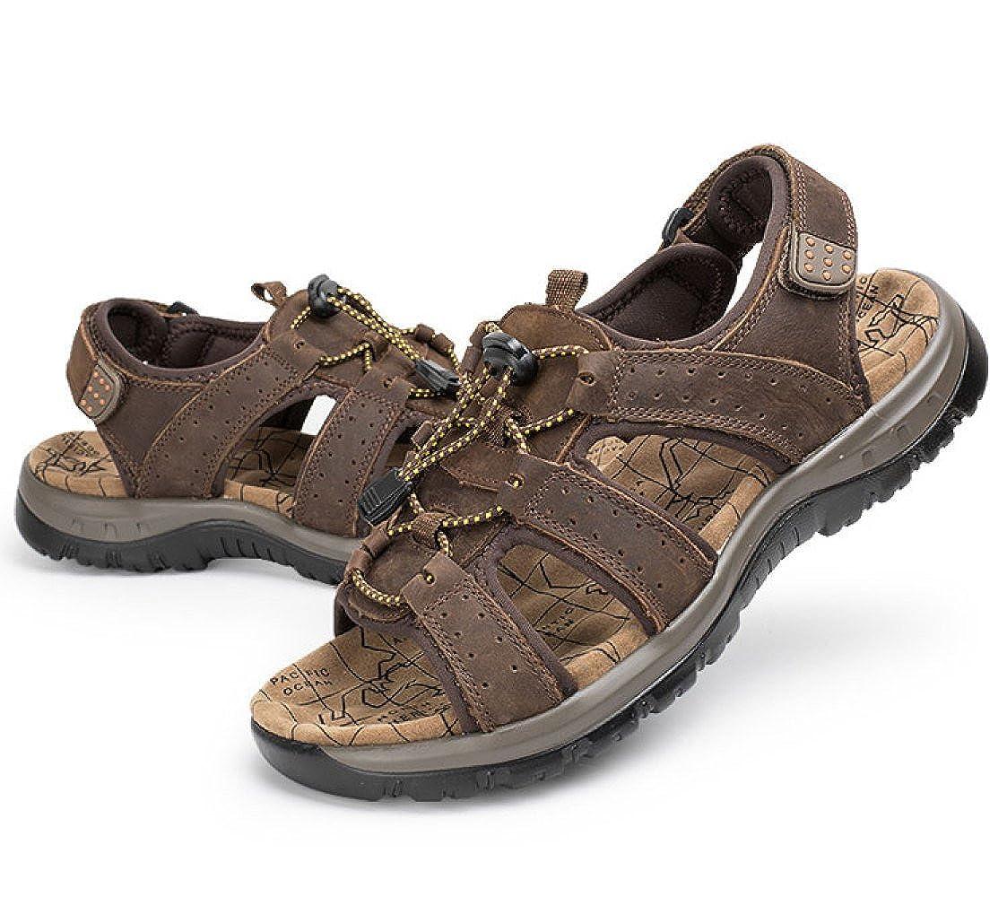 LEDLFIE Sandalen Strand Freizeitschuhe,DarkBraun-45 Schuhe Männer Niedrig-Cut Outdoor Freizeitschuhe,DarkBraun-45 Strand - cd73da