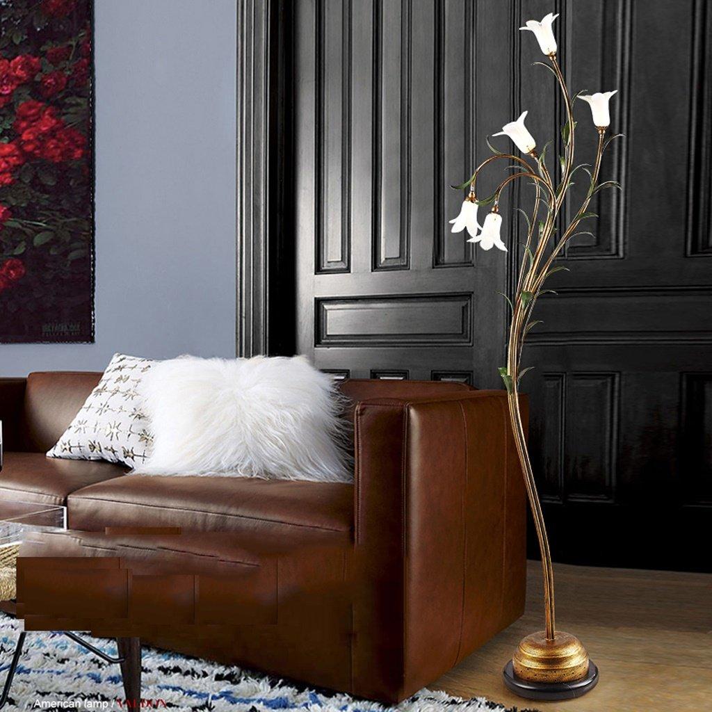 American Style Stehleuchte warm und persönliche Persönlichkeit Europäische Schlafzimmer Studie Wohnzimmer einfache moderne Stehlampe ( farbe : A )