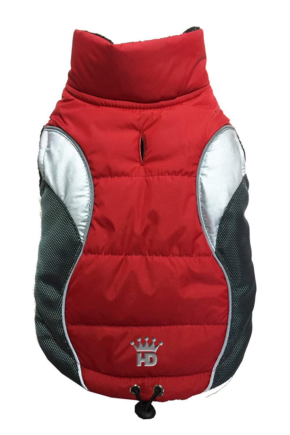 Hip Doggie HD-5WVRD-XL Wave Reflective Puffer Vest Red XL