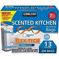 Kirkland Signature Flex-Tech 13-Gallon Scented Kitchen Trash Bags, 200-count