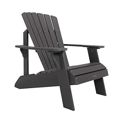 Genial Lifetime Faux Wood Adirondack Chair, Gray   60204