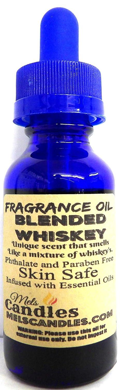 Blended Whiskey - 1oz /29.5ml Blue Glass Bottle Premium Grade Fragrance Oil, Skin Safe Oil, Candles, Lotions Soap & More