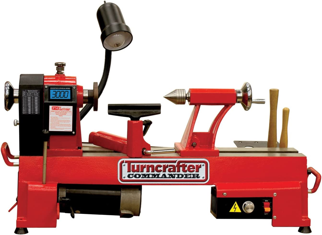 """PSI Woodworking KWL-1218VS Turn Crafter Commander 12"""" Variable Speed Midi Lathe"""
