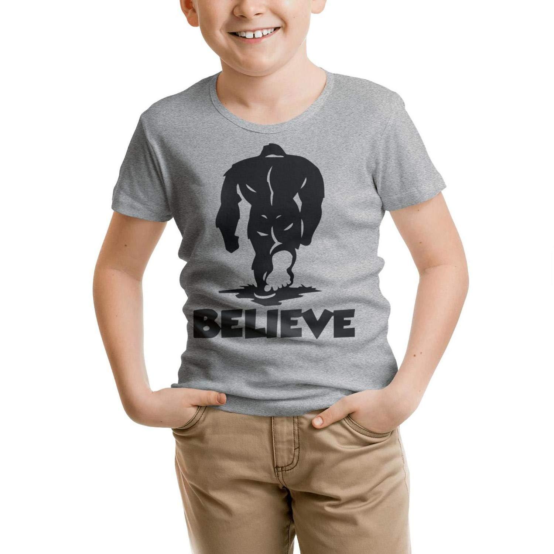 Websi Wihey Bigfoot I Believe Boys /& Girls Gray Shirt Unisex Fashion T Shirts