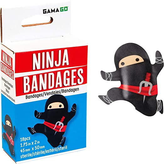 novelty BLACK NINJA shaped BANDAGES for Kids or grown ups by ...