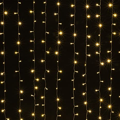 Amazon solar powered curtain icicle lights agptek 3m x 3m 8 solar powered curtain icicle lights agptek 3m x 3m 8 modes fairy string lights for aloadofball Gallery