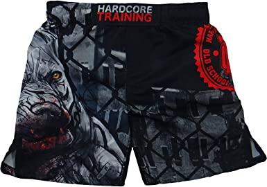 Hardcore Training Kids Boxing Shorts Viking 3.0 Youth MMA Boxing BJJ Fitness Running Workout Exercise Sport Clothing
