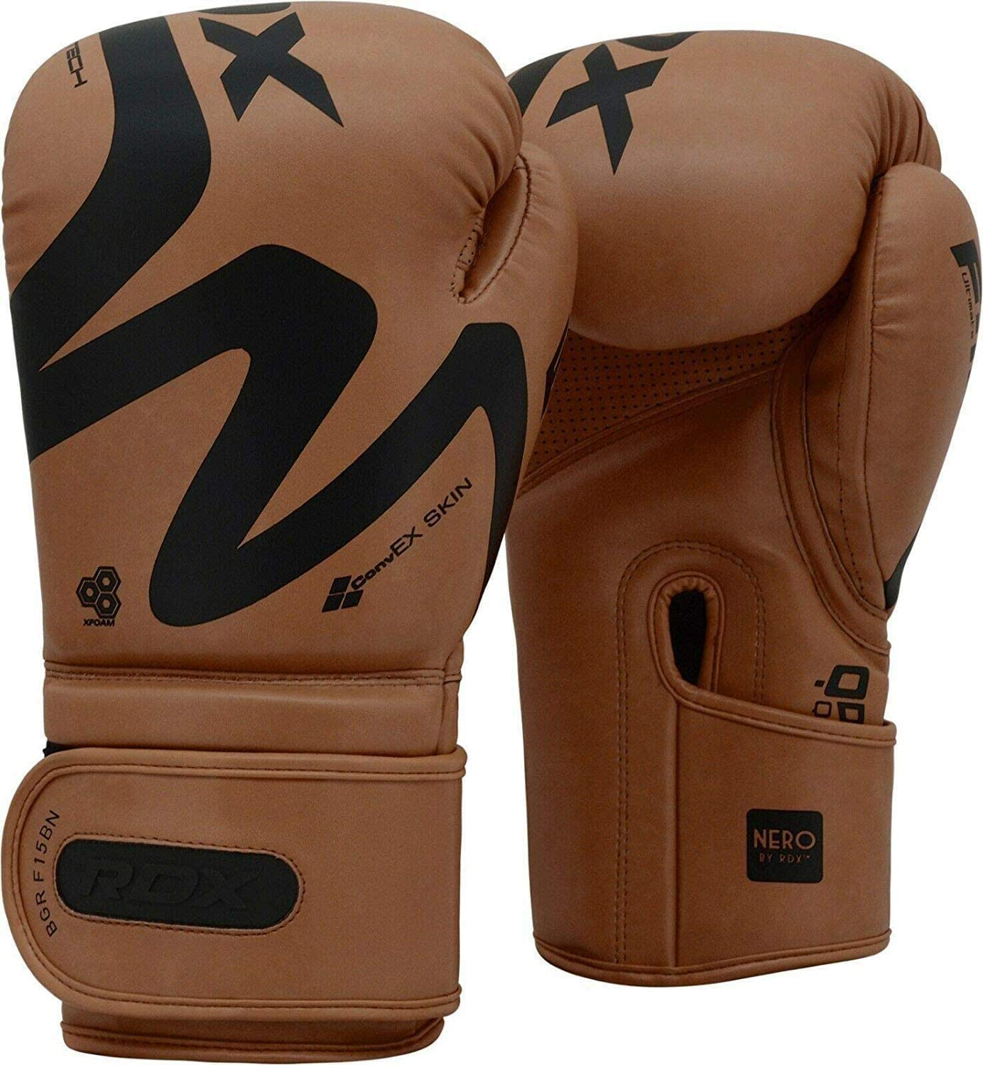 RDX Boxing Gloves for Training Muay Thai Maya Hide Leather Mitts for Sparring Double End Speed Ball Focus Pads Punching Fighting Great for Heavy Punch Bag Kickboxing