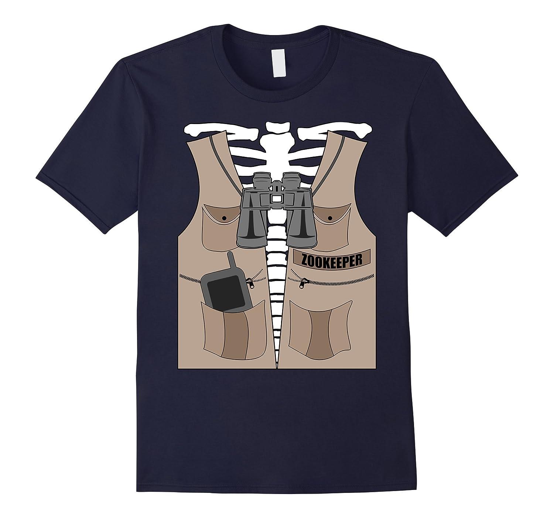 Zookeeper T-shirt Halloween Skeleton Jungle Safari Explorer-FL