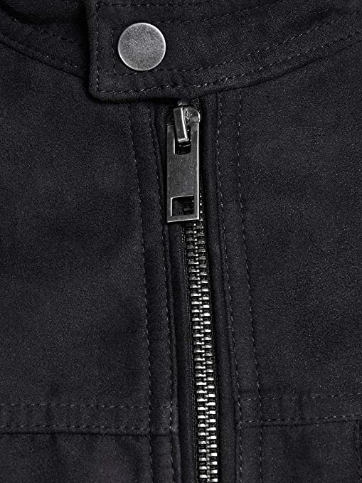 marr/ón 5XL para Hombre JACK /& JONES Jcorocky Jacket PS Chaqueta de Cuero
