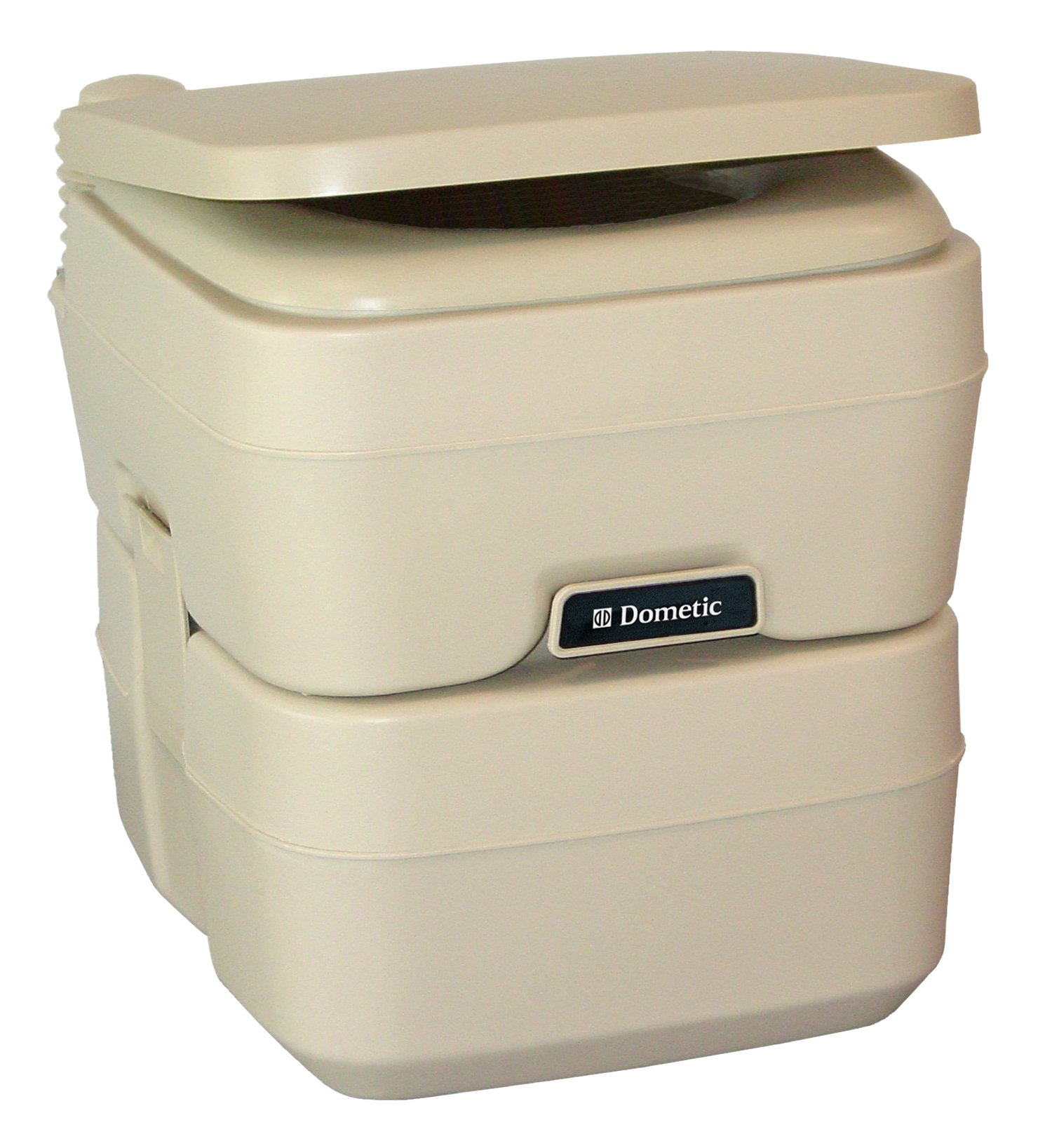 Dometic 301096602 5.0 Gallon Portable Toilet, Parchment by Dometic