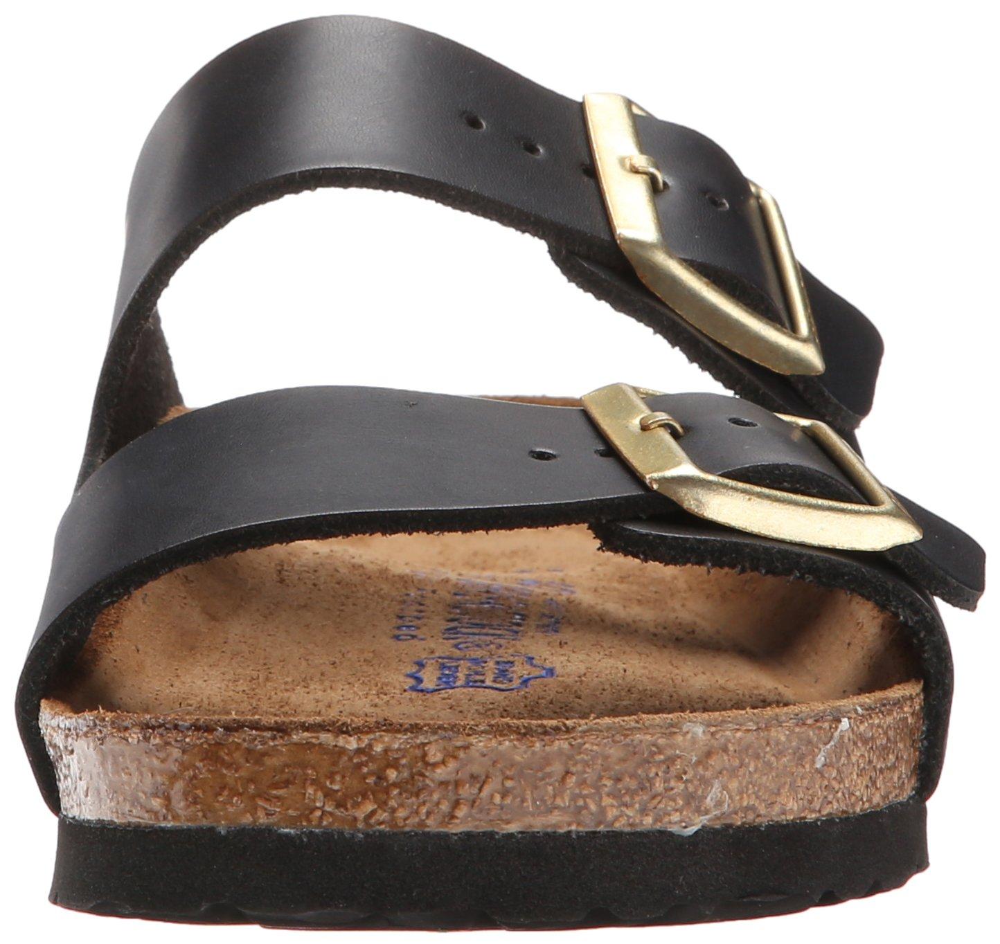 Birkenstock Unisex Arizona Hunter Black Leather Sandals - 9-9.5 2A(N) US Women/7-7.5 2A(N) US Men by Birkenstock (Image #4)