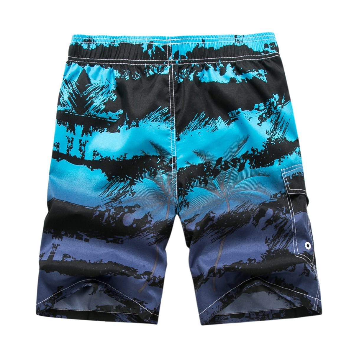 Tailor Pal Love Men Tropical Swim Trunks Printed Quick Dry Board Shorts Mesh Lining Breathable Beach Trunks 3XL Blue by Tailor Pal Love (Image #2)