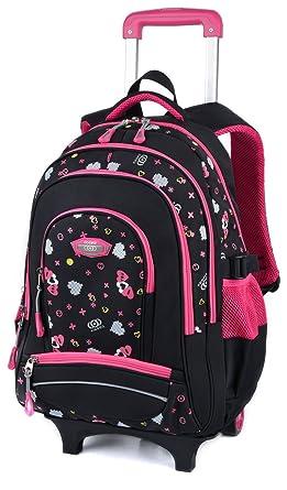 3542475ebfa6 Amazon.com | Rolling Backpack, COOFIT Kids Backpack Wheeled Backpack ...