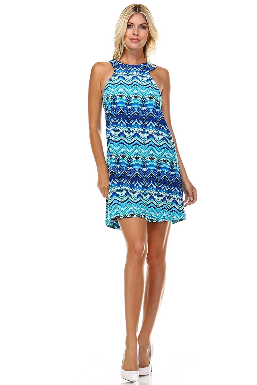 Marcelle Margaux High Neck Cut-Out Sleeveless Dress