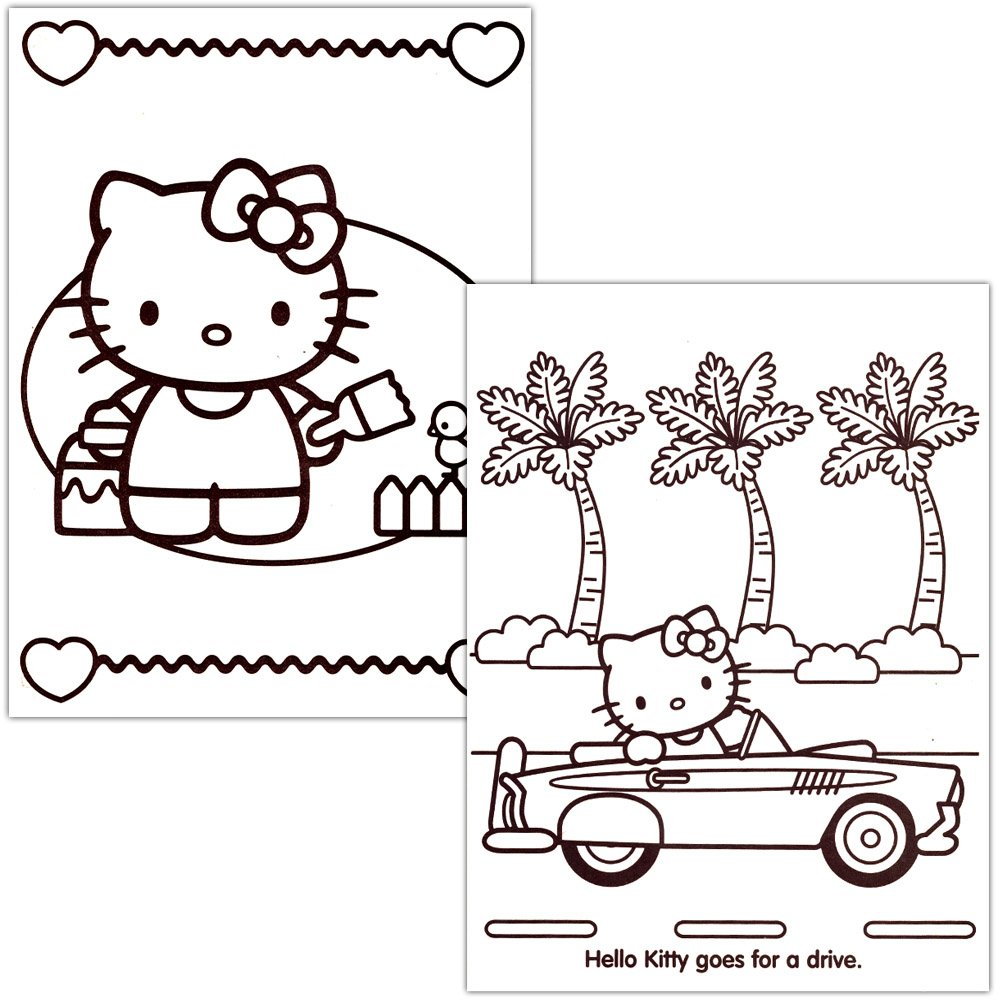 amazon com hello kitty coloring book set 2 books 96 pages